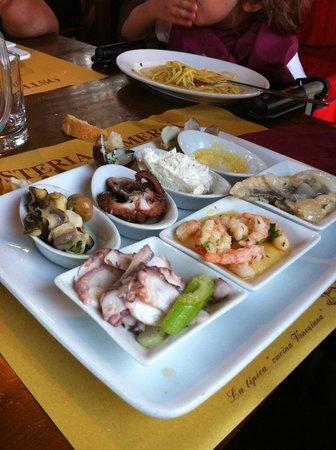 Osteria Al Merca : antipasto misto di pesce