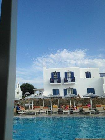 Myconian K Hotels: Pool area