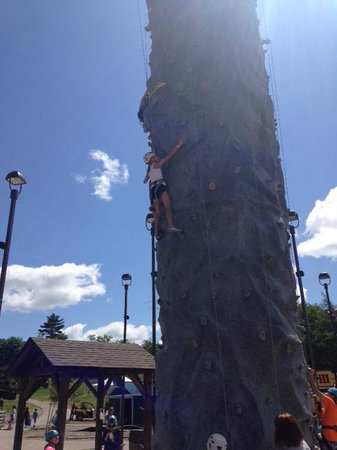 Horseshoe Adventure Park: all harnessed up rock climbing!