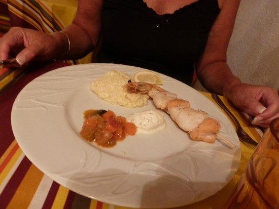 Restaurant Aubergine : Fish kebab