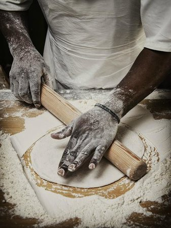Charlies Pizza & Pasta Summerstrand: Pizza bases made from scratch every day
