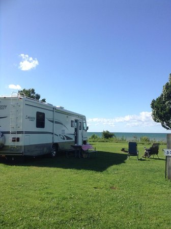 Virginia's Beach Campground: daytime pic of our view