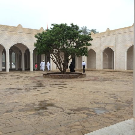 Museum of the Frankincense Land: Yard between museum halls