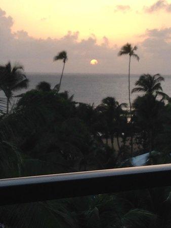 Margaritaville Vacation Club Wyndham Rio Mar: Sunrise from my balcony