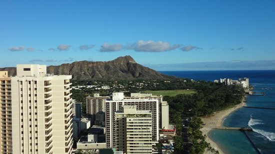 Hyatt Regency Waikiki Resort & Spa: ルーフトップからのダイアモンドヘッド