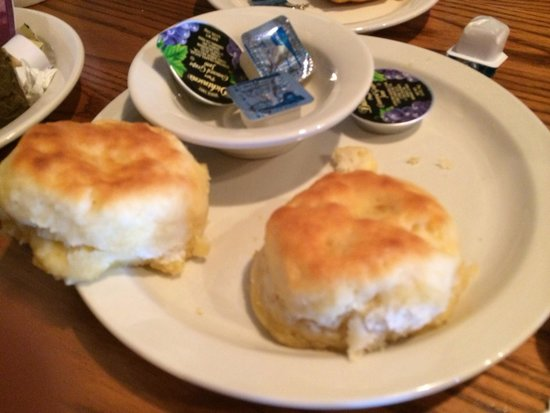 Cracker Barrel: The biscuits are really good!