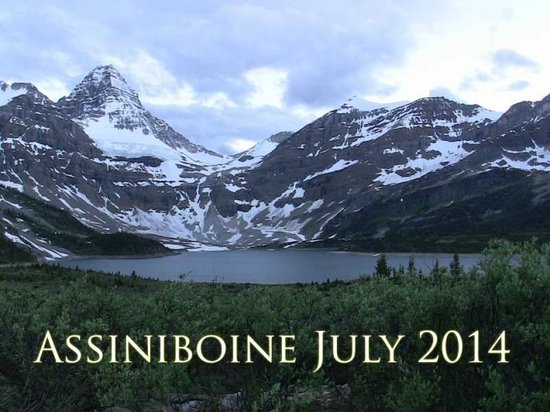 Assiniboine Lodge: Mt. Assiniboine, known as the Matterhorn of the Rockies