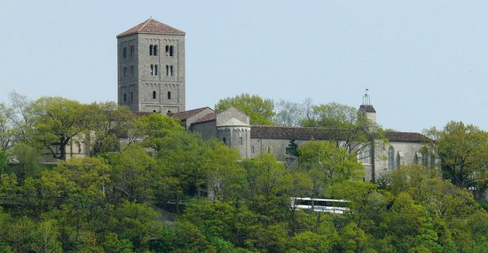 The Met Cloisters: The Cloisters viewed from the Hudson River