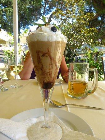 Konoba Toranj: a wonderful , light chocolate mousse