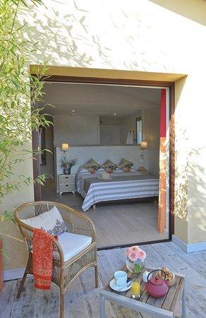 Hôtel le Goéland : Une chambre de catégorie Suite, vue de la terrasse
