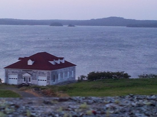 West Quoddy Head Station : looking off the deck