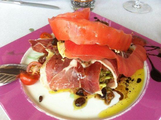 Hosteria El Caserio : Ensalada jamón