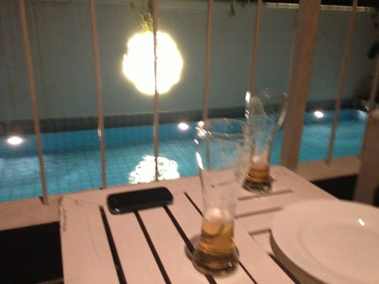 Escape Hotel & Spa: View on pool from restaurant