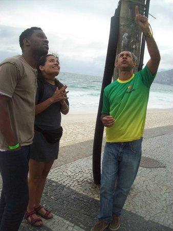 Rio Maximo: O guia Igor com turistas de Londres no City Tour