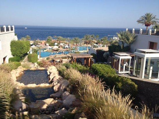 Hilton Sharm Waterfalls Resort: Vue plongeante