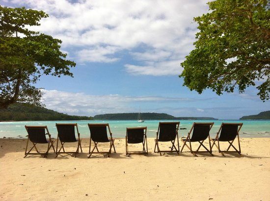 Velit Bay: complimentary deck chairs