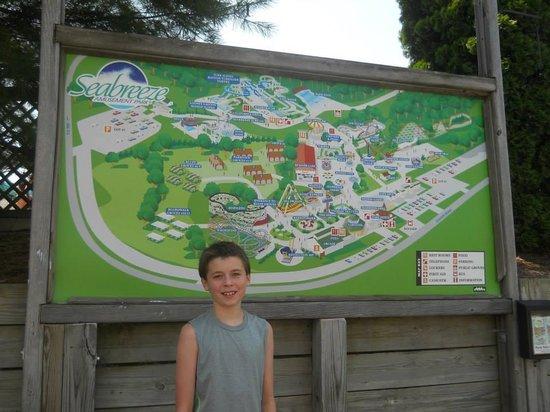 Seabreeze Amusement Park: Map of Seabreeze Park.