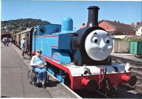 West Somerset Railway: Rose with Thomas the Tank engine