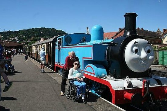 West Somerset Railway: Rose and I with Thomas the Tank engine
