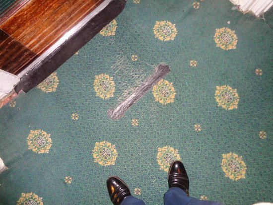 The Palace Hotel: CARPET MENDED WITH GAFFER TAPE