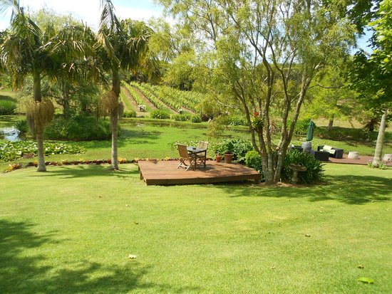 Garden setting at Marsden Estate Winery