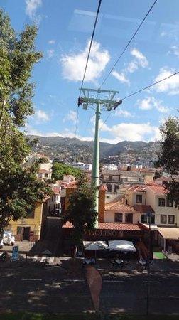 Téléphérique de Funchal : view looking towards Monte