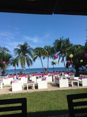 Cafe De Playa : terraza para disfrutar del mar