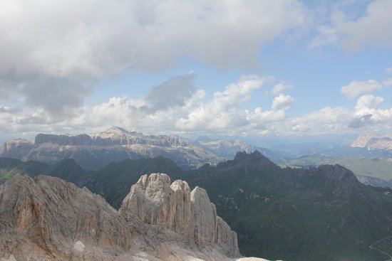 View from the Marmolada top station