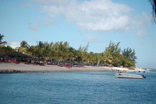 Le Meridien Ile Maurice : La plage vue de la mer
