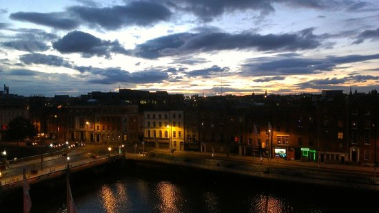 Dublin sunset from The Clarence
