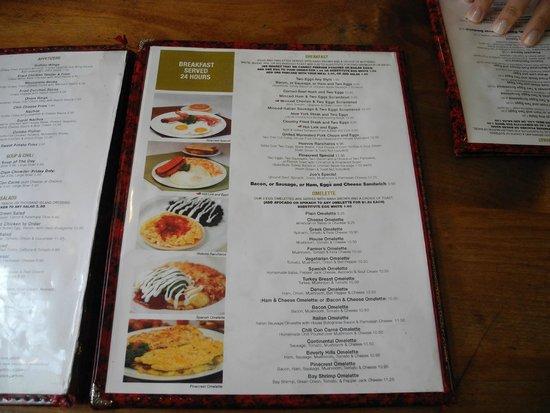 Hotel Diva: Pinecrast menu