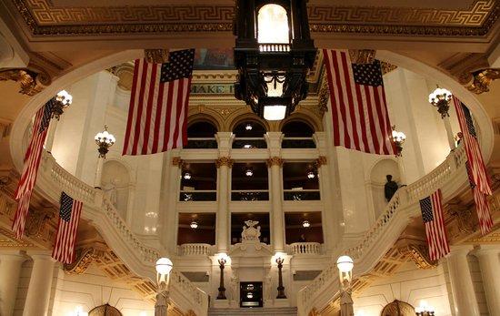 Pennsylvania State Capitol : intérieur du Capitole de Harrisburg