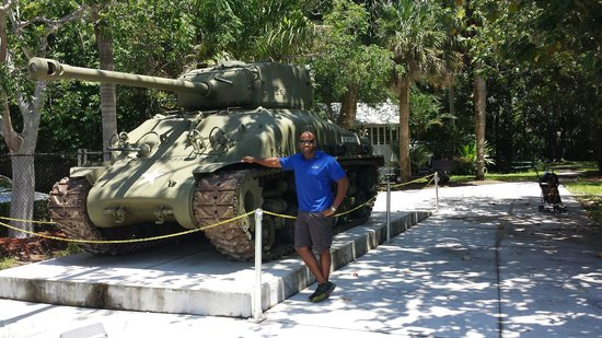 Sherman tank at Collier County Museum...