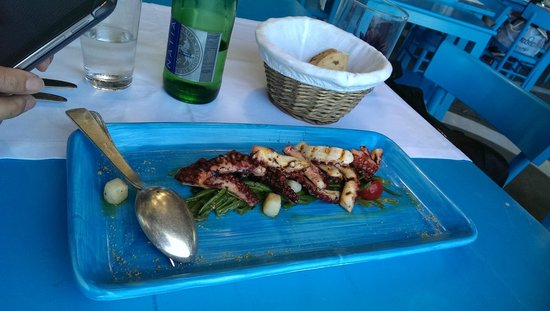 Il Riccio Beach Club & Restaurant : grilled octopus