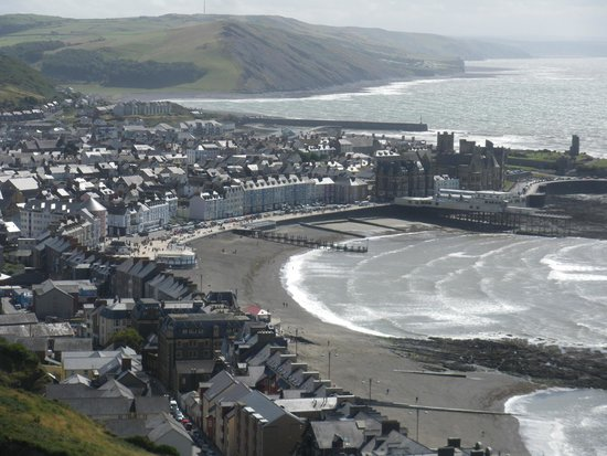 Aberystwyth Cliff Railway: View from the Hill.