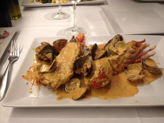 Restaurante Amar : Een heerlijke Kreeft met mosselen
