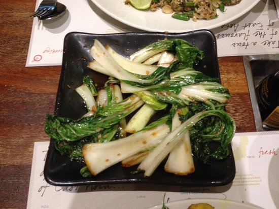 Tampopo Trafford Centre: Wok Fried Pak Choi with garlic