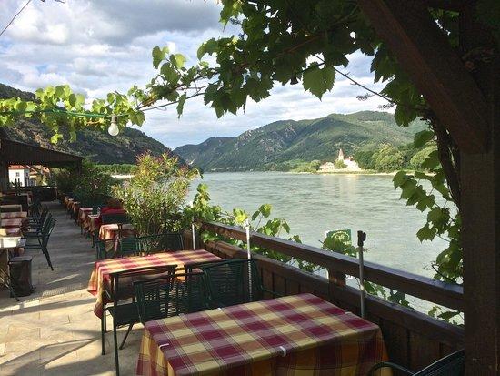 Strandcafe: Blick von der Terrasse