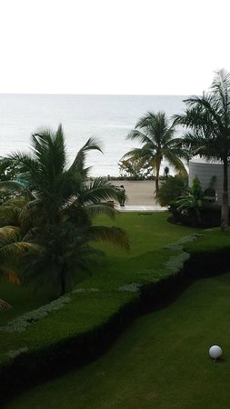 Secrets St. James Montego Bay: Ocean view from my balcony, room was a corner one