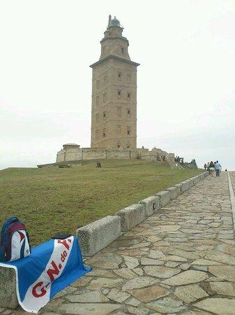 Tower of Hercules (Torre de Hercules) : 9 de agosto copa teresa herrera Nacional de montevideo vs depot la coruña