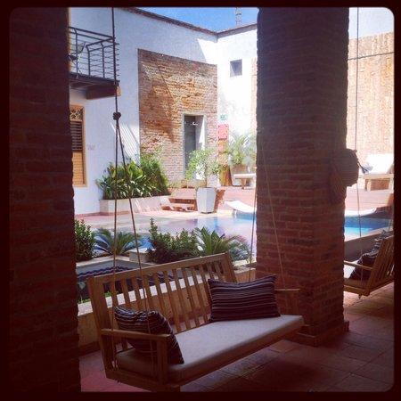 Hotel Boutique Casa Carolina: breakfast view