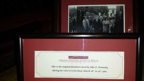 Gran Hotel Costa Rica: The JFK picture