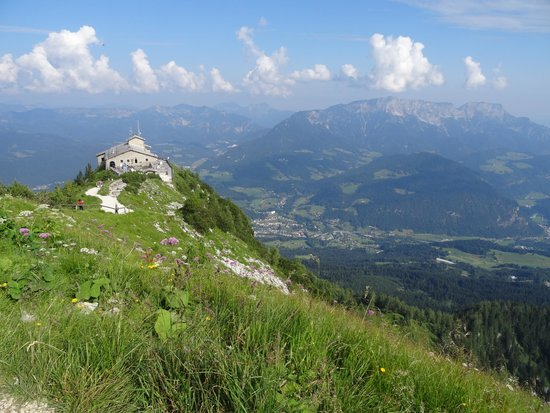 The Eagle's Nest: View of Kehlsteinhaus from cross