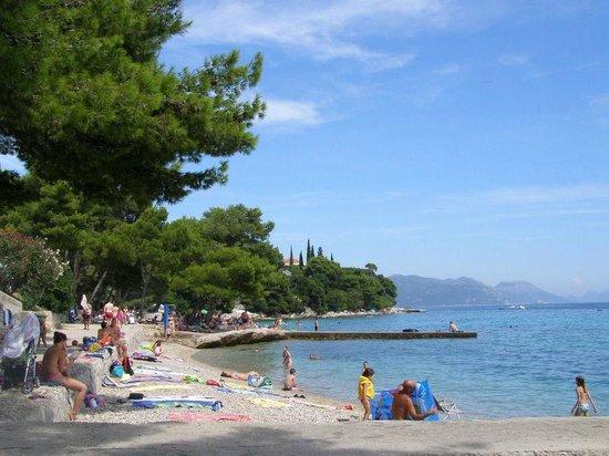 Aminess Grand Azur Hotel: Plaża bez przystani, przystań obok