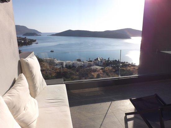 SENTIDO Elounda Blu : Terrace and view