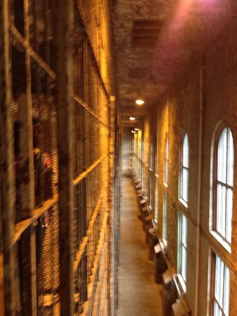 Ohio State Reformatory: Cell tiers facing a brick wall (depressing)