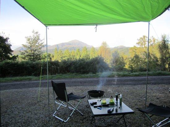 Faichemard Farm Campsite: Breakfast viewpoint