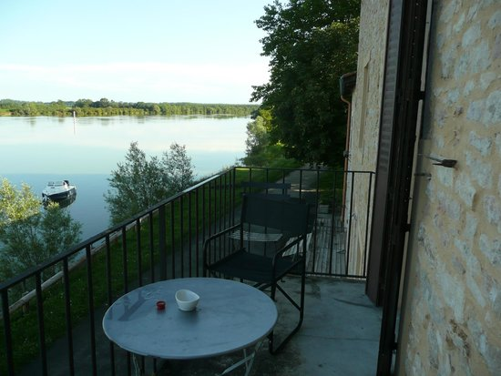 Jean de Saone : Vue de la chambre sur la Saône
