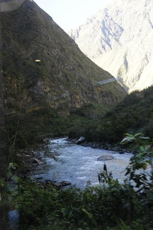 PeruRail - Vistadome: View from the train en route from Poroy to Machu Picchu