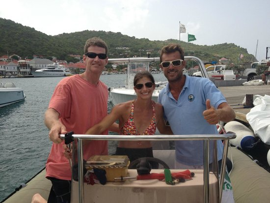La Bulle Diving Center: Luke, me and our wonderful David